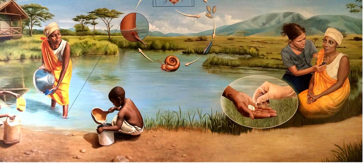 Schistosomiasis Resource Center BRI13 mural
